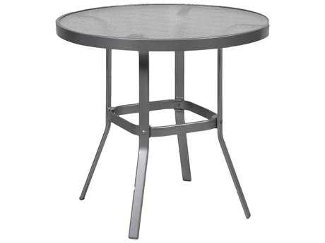Suncoast Cast Aluminum 36'' Round Glass Top Counter Table