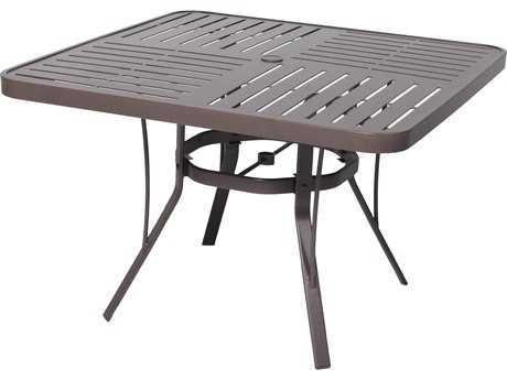 Suncoast Slat Aluminum 42 Square Dining Table