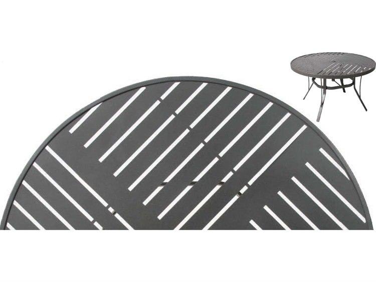 Suncoast Slat Aluminum 76 x 42 Oval Dining Table PatioLiving