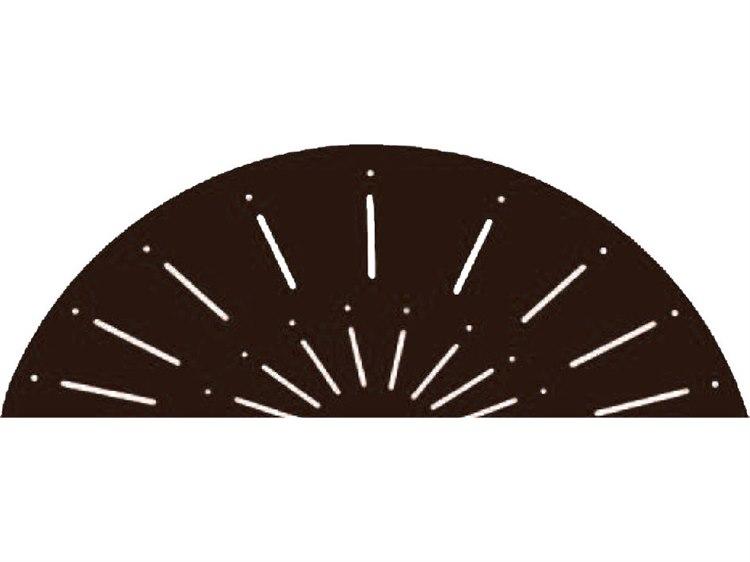 Suncoast Aluminum Verona Design 76''W x 42''D Rectangular Square Umbrella Hole PatioLiving