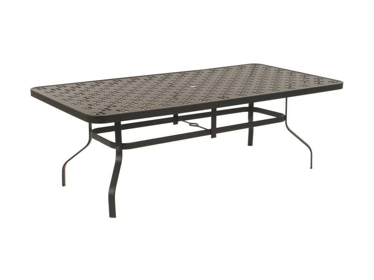 Suncoast patterned square aluminum 84 39 39 x 42 39 39 rectangular - Aluminium picnic table with umbrella ...