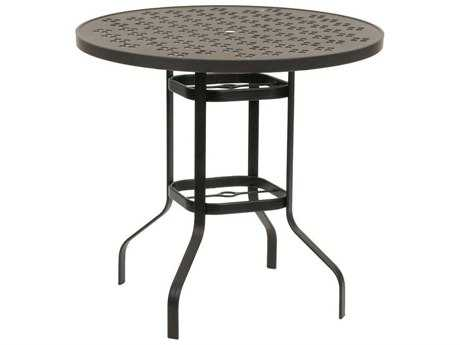 Suncoast Patterned Square Aluminum 42 Round Gathering Table