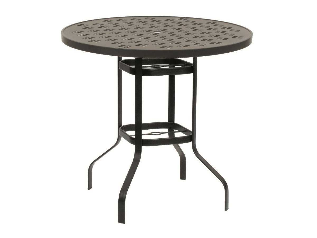 suncoast patterned wave aluminum 42 round gathering table 42jgpa. Black Bedroom Furniture Sets. Home Design Ideas