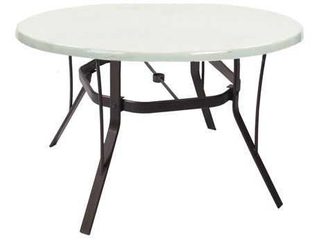 Suncoast Welded Fiberglass Cast Aluminum 42'' Round Dining Table PatioLiving
