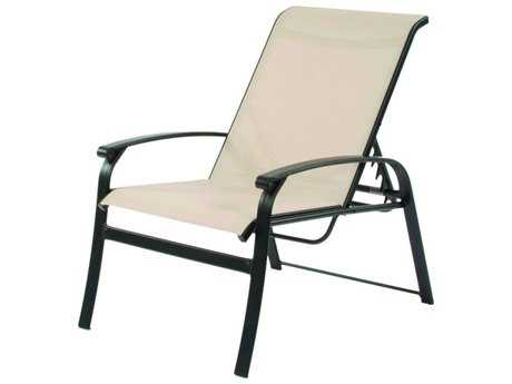 Suncoast Rosetta Sling Cast Aluminum Arm Adjustable Lounge Chair