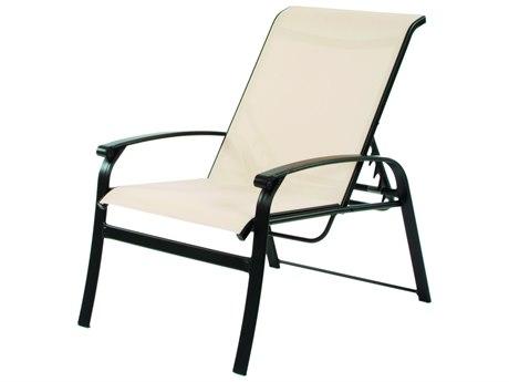 Suncoast Rosetta Sling Cast Aluminum Recliner Lounge Chair