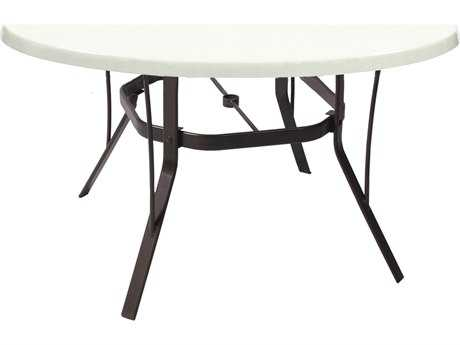 Suncoast Welded Fiberglass Cast Aluminum 36'' Round Dining Table with Umbrella Hole