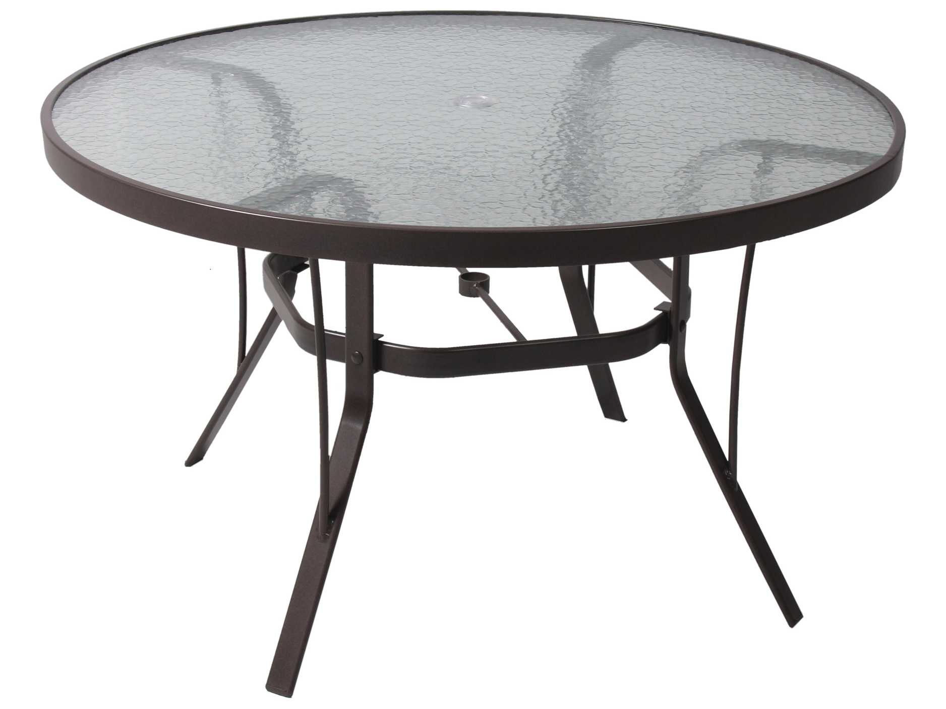 suncoast cast aluminum 48 39 39 round glass top dining table 48kd. Black Bedroom Furniture Sets. Home Design Ideas