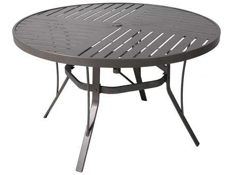 Suncoast Slat Aluminum 48 Round Dining Table