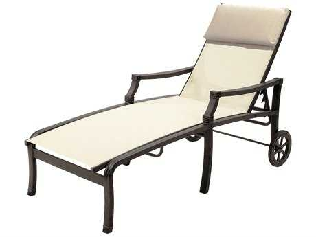 Suncoast Devereaux Sling Cast Aluminum Arm Chaise