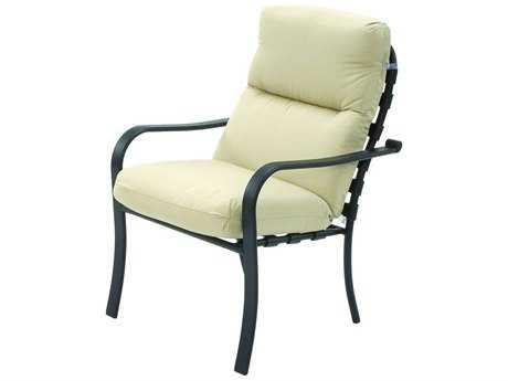 Suncoast Rosetta Cushion Cast Aluminum Arm Dining Chair