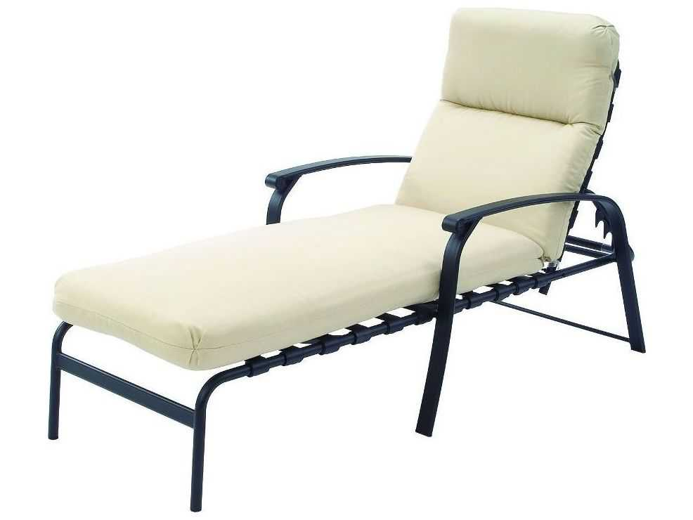 Suncoast rosetta cushion cast aluminum arm chaise 5413 for Cast aluminum chaise