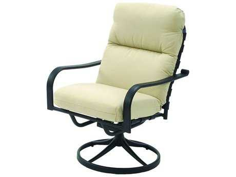 Suncoast Rosetta Cushion Cast Aluminum Arm Swivel Rocker Dining Chair