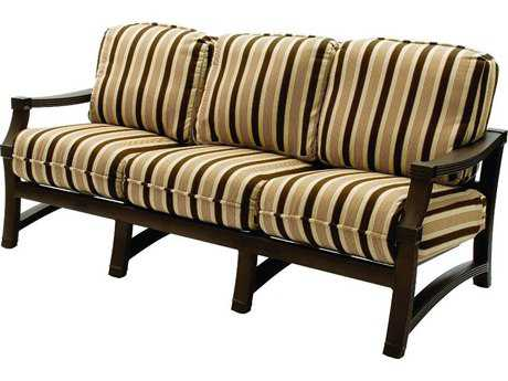 Suncoast Devereaux Cushion Cast Aluminum Sofa