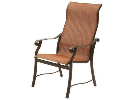 Suncoast Rendezvous Sling Cast Aluminum Arm Supreme Dining Chair