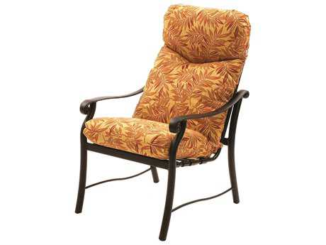Suncoast Rendezvous Cushion Cast Aluminum Arm Dining Chair