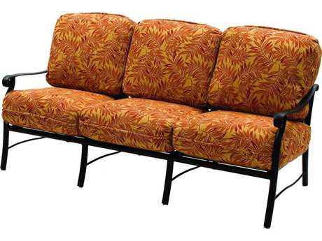 Suncoast Rendezvous Cushion Cast Aluminum Sofa