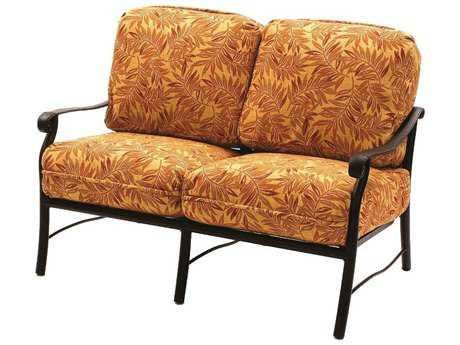 Suncoast Rendezvous Cushion Cast Aluminum Loveseat