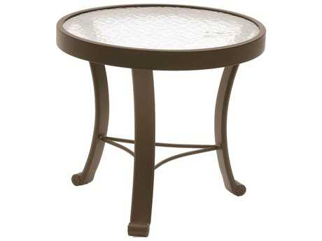 Suncoast Cast Aluminum 20'' Round Glass Top End Table