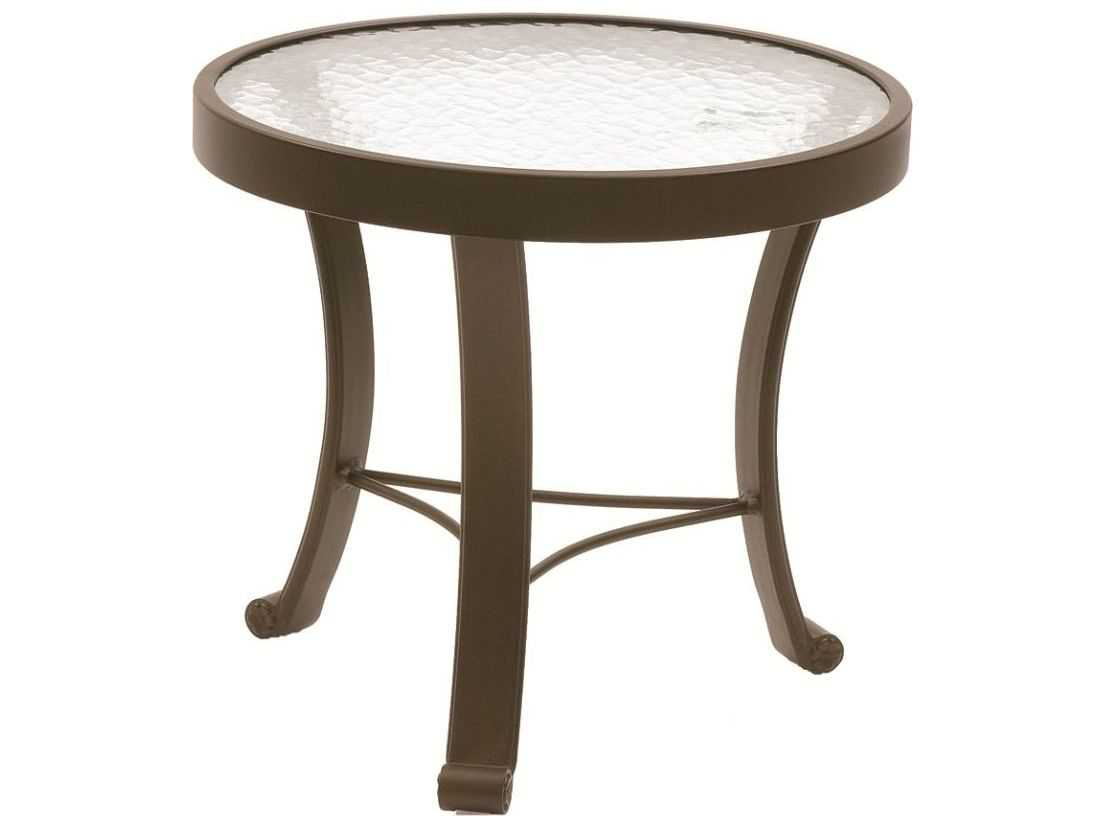 Suncoast cast aluminum 20 39 39 round glass top end table su720g for Glass top side table