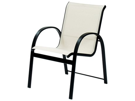 Suncoast Maya Sling Cast Aluminum Stackable Dining Arm Chair