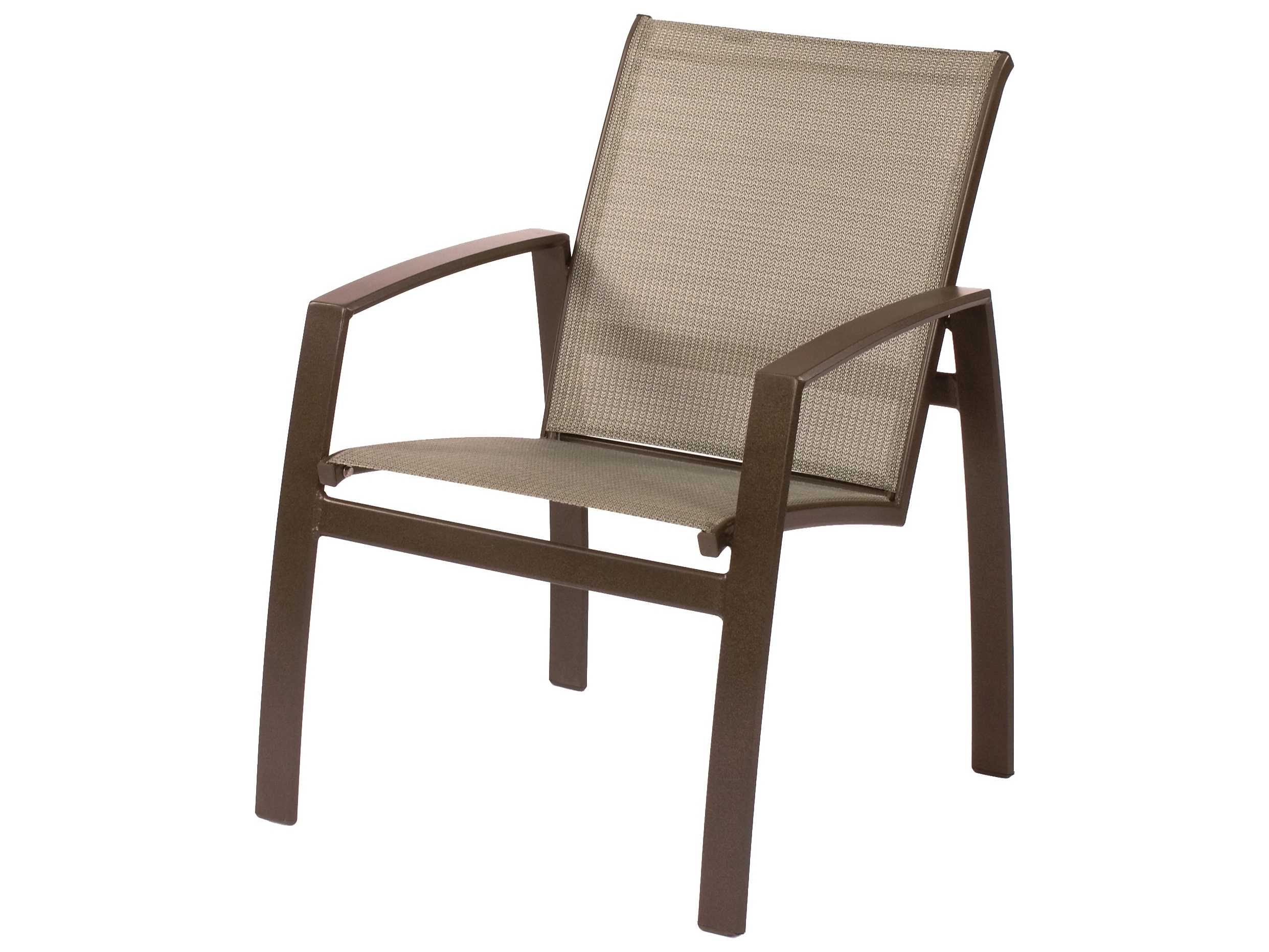 Suncoast Vision Sling Cast Aluminum Arm Dining Chair
