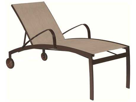 Suncoast Vision Sling Cast Aluminum Chaise Lounge with Wheels