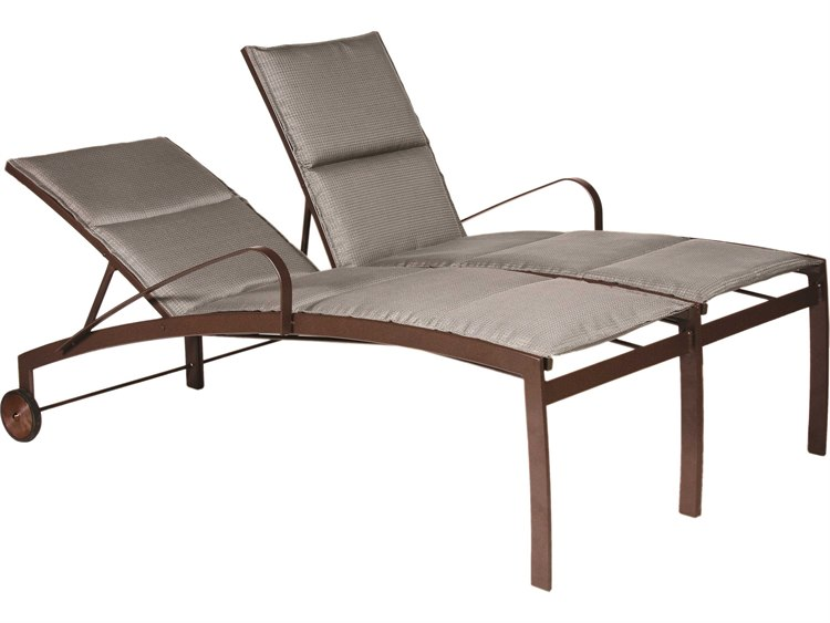 Suncoast vision sling cast aluminum adjustable chaise for Chaise longue textilene alu