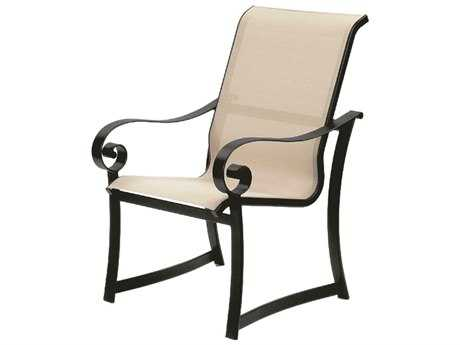 Suncoast Orleans Sling Cast Aluminum Arm Dining Chair