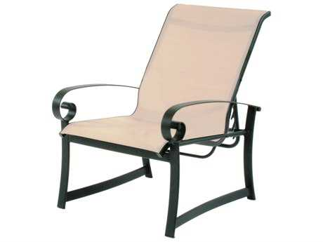 Suncoast Orleans Sling Cast Aluminum Arm Adjustable Lounge Chair