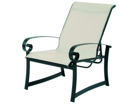 Suncoast Orleans Sling Cast Aluminum Recliner Lounge Chair