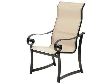 Suncoast Orleans Sling Cast Aluminum Arm Supreme Dining Chair