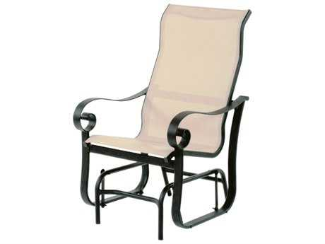 Suncoast Orleans Sling Cast Aluminum Arm Glider Supreme Lounge Chair