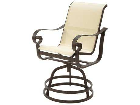 Suncoast Orleans Sling Cast Aluminum Arm Swivel Counter Stool