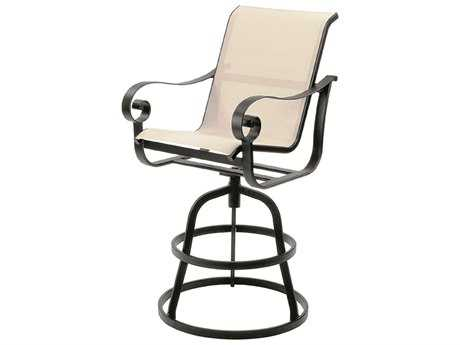 Suncoast Orleans Sling Cast Aluminum Arm Swivel Bar Stool