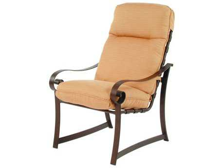 Suncoast Orleans Cushion Cast Aluminum Arm Dining Chair
