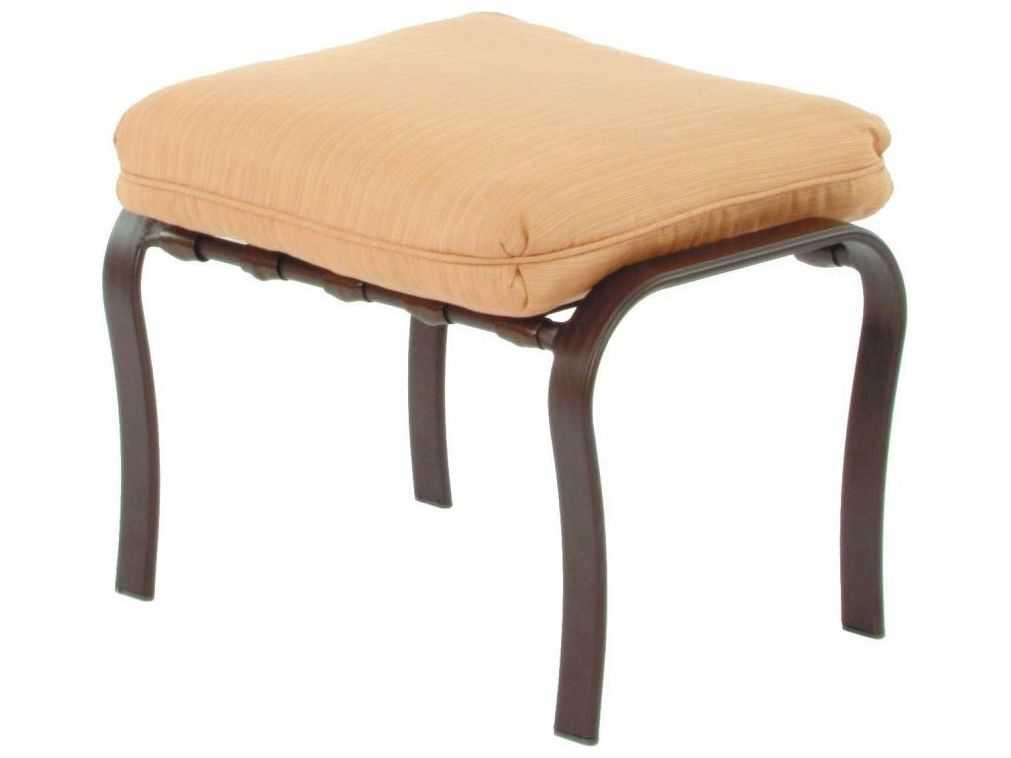 Suncoast Orleans Cushion Cast Aluminum Ottoman