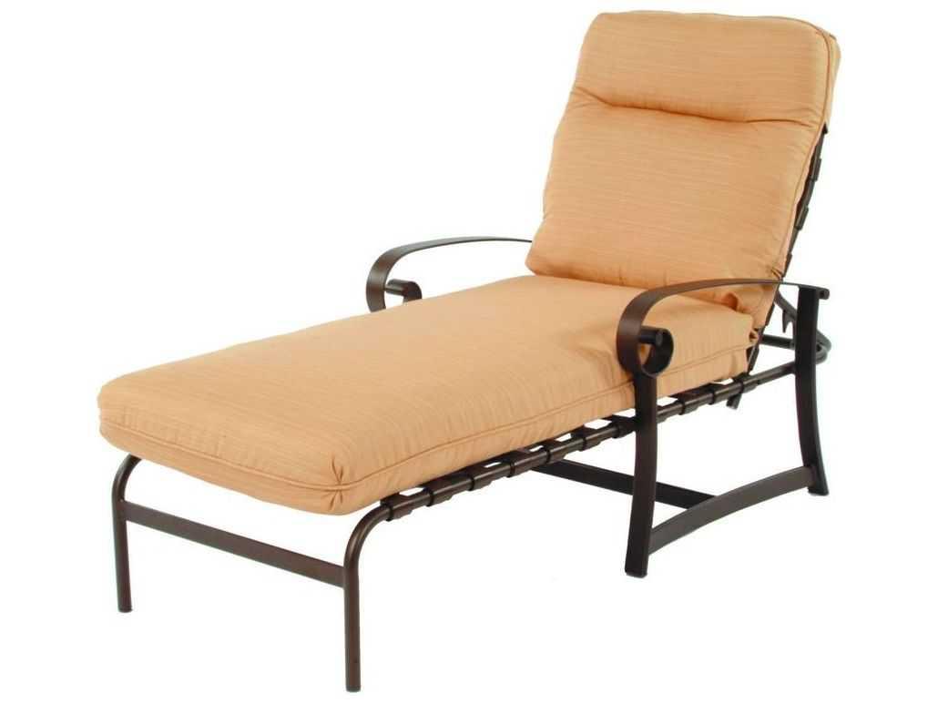 Suncoast orleans cushion cast aluminum arm chaise 8613 for Chaise longue textilene alu