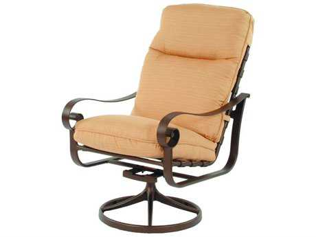 Suncoast Orleans Cushion Cast Aluminum Arm Swivel Rocker Dining Chair