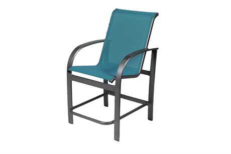 Suncoast Maya Sling Cast Aluminum Gathering Height Chair