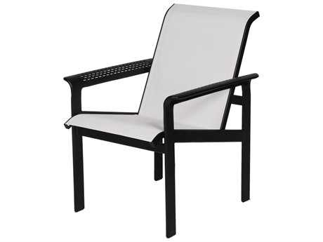 Suncoast South Beach Sling Cast Aluminum Arm Dining Chair