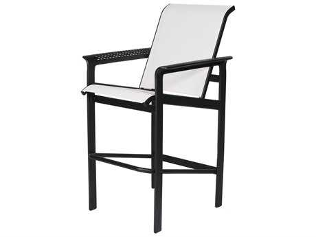 Suncoast South Beach Sling Cast Aluminum Arm Bar Stool
