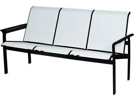 Suncoast South Beach Sling Cast Aluminum Sofa