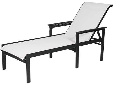 Suncoast South Beach Sling Cast Aluminum Arm Adjustable Chaise Lounge