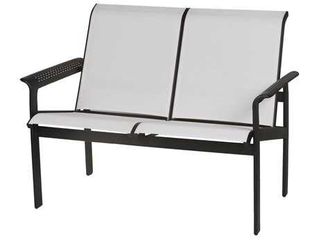 Suncoast South Beach Sling Cast Aluminum Arm Loveseat