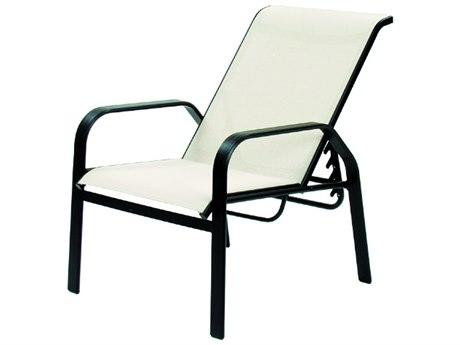 Suncoast Maya Sling Cast Aluminum Recliner Lounge Chair