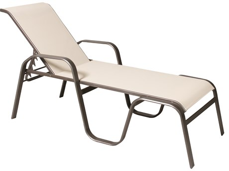 Suncoast Maya Sling Cast Aluminum Stackable Chaise Lounge