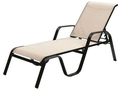 Suncoast Maya Sling Cast Aluminum Arm Stackable Chaise