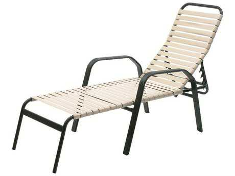Suncoast Maya Strap Cast Aluminum Arm Stackable Chaise