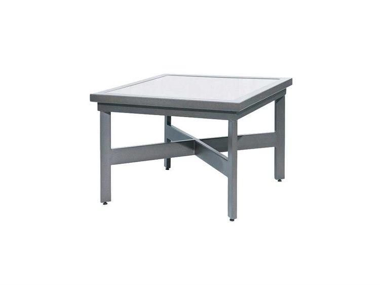 Suncoast Madrid Cast Aluminum 45u0027u0027 Square Stone Coffee Table